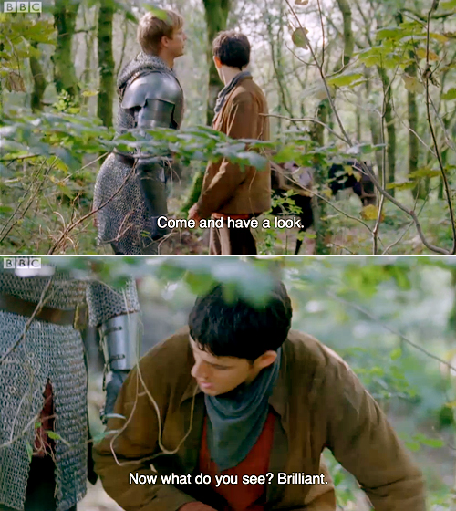 Arthur makes Merlin kneel for important plot reasons