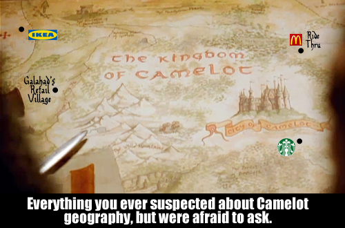 Everything you ever suspected about Camelot geography, but were afraid to ask.