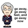 Carolyn says go away