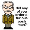 Furious posh man