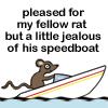 Rat leaving a sinking ship