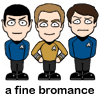 Kirk and Spock and McCoy