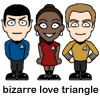 Kirk and Spock and Uhura