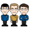 Kirk and Spock and Bones