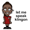 Let Uhura speak Klingon