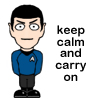 Spock keeps calm