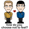 Kirk and Spock choose not to feel