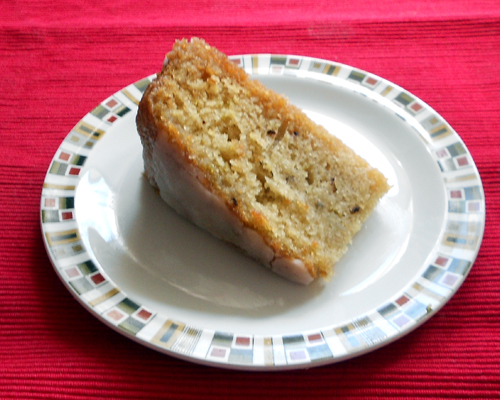 A slice of gin and tonic cake