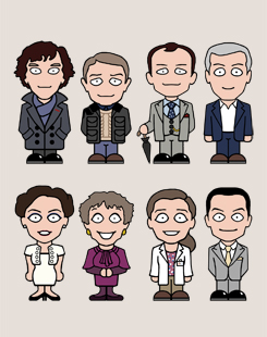 Sherlock mini people card design