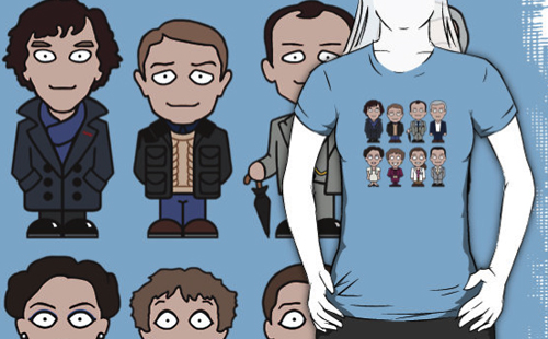 Sherlock mini people shirt