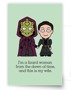 Vastra and Jenny card design