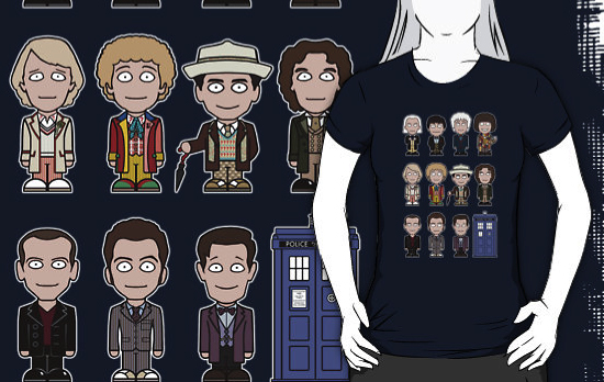 The Eleven Mini-Doctors on a t-shirt