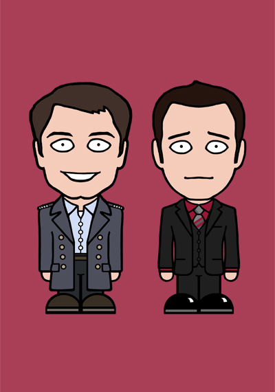 Mini Jack and Ianto card by redscharlach