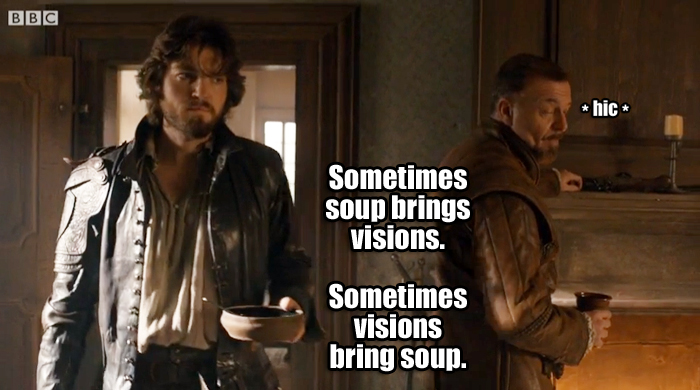 A vision with soup