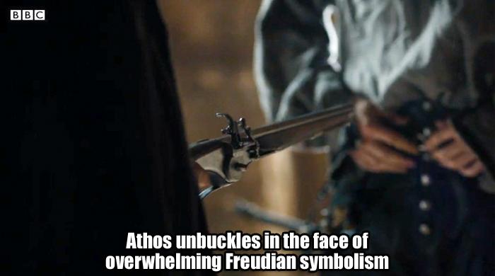 Athos unbuckles