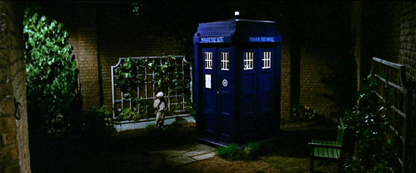 TARDIS in the garden