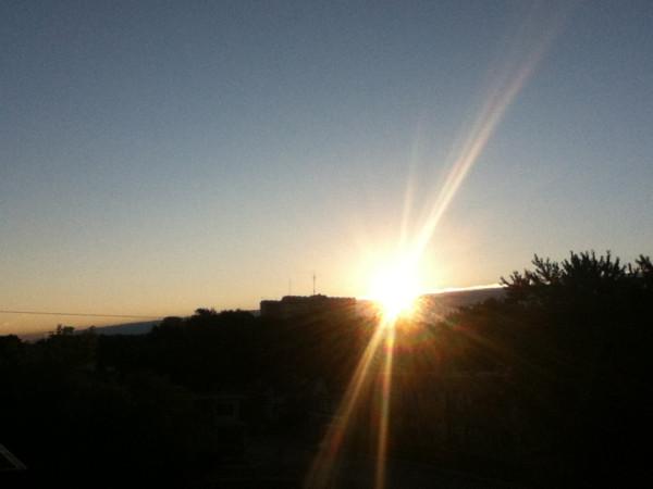рассвет, солнце взошло
