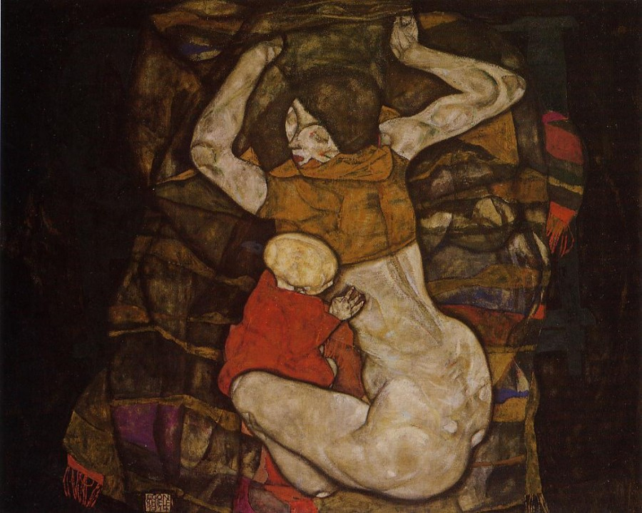 Egon Schiele_young-mother-1914