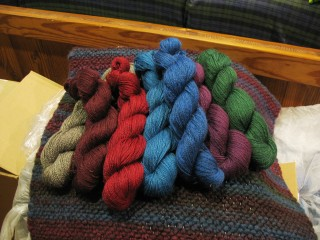 New Yarn from Still River Mill (on a new rug, too!)