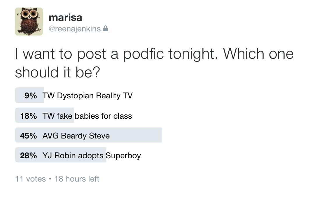 twitter podfic posting poll - 10.27.16