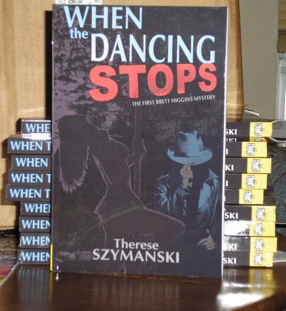 Picture of the author copies of the new edition of When the Dancing Stops