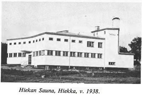 Hiekan Sauna, Hiekka, v. 1938.