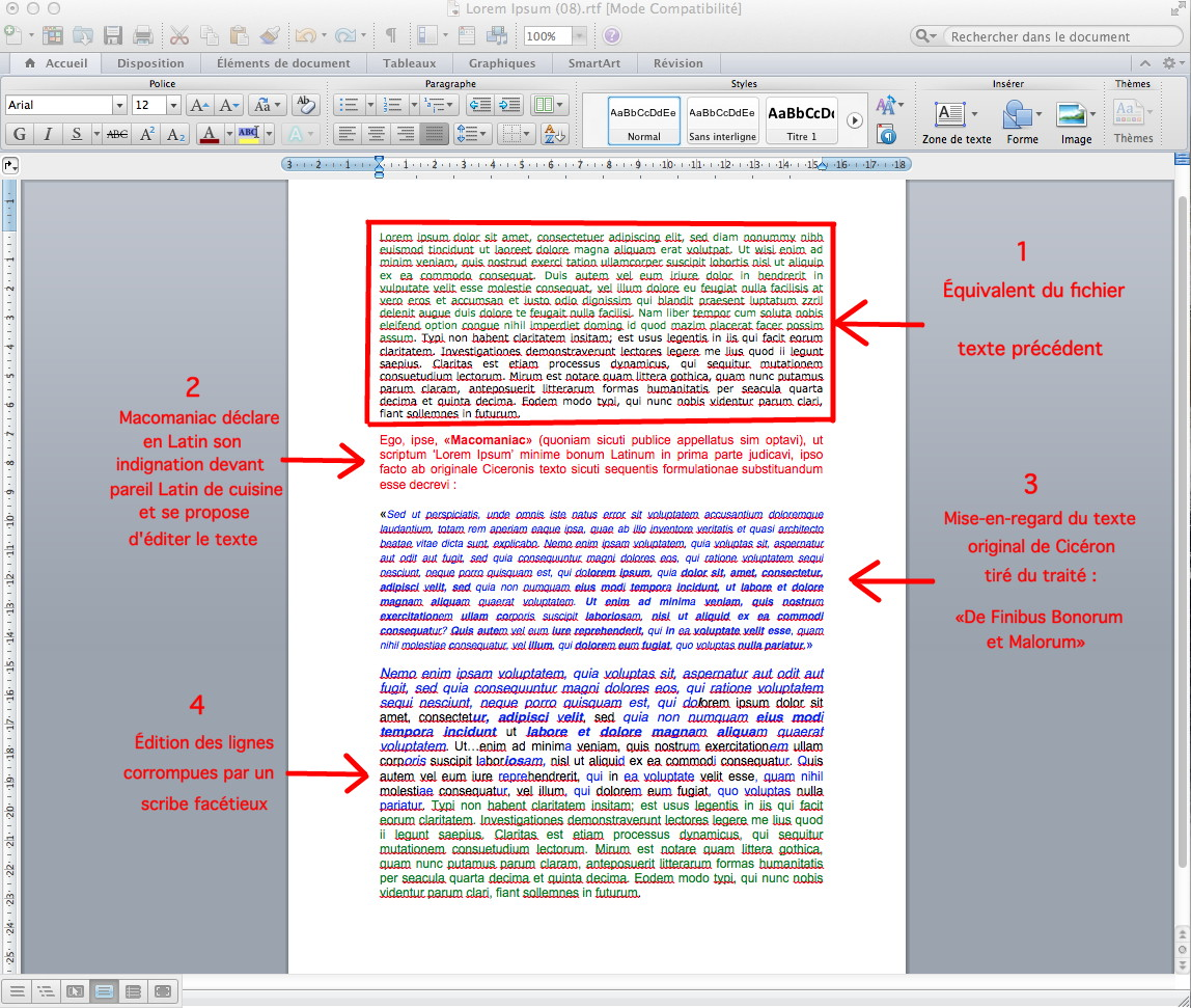transposer un document word en pdf