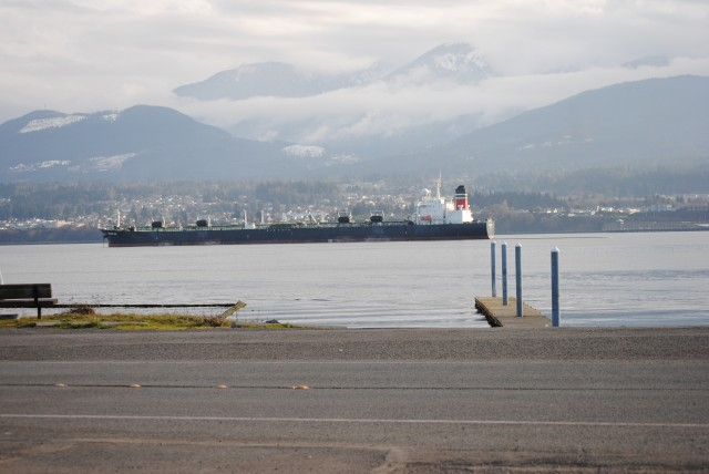 Looking back at Port Angeles from Ediz Hook