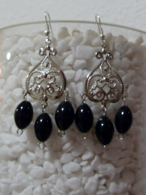 Onyx boho earrings