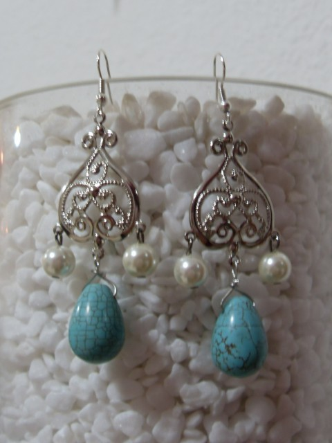 Turqoise boho earrings