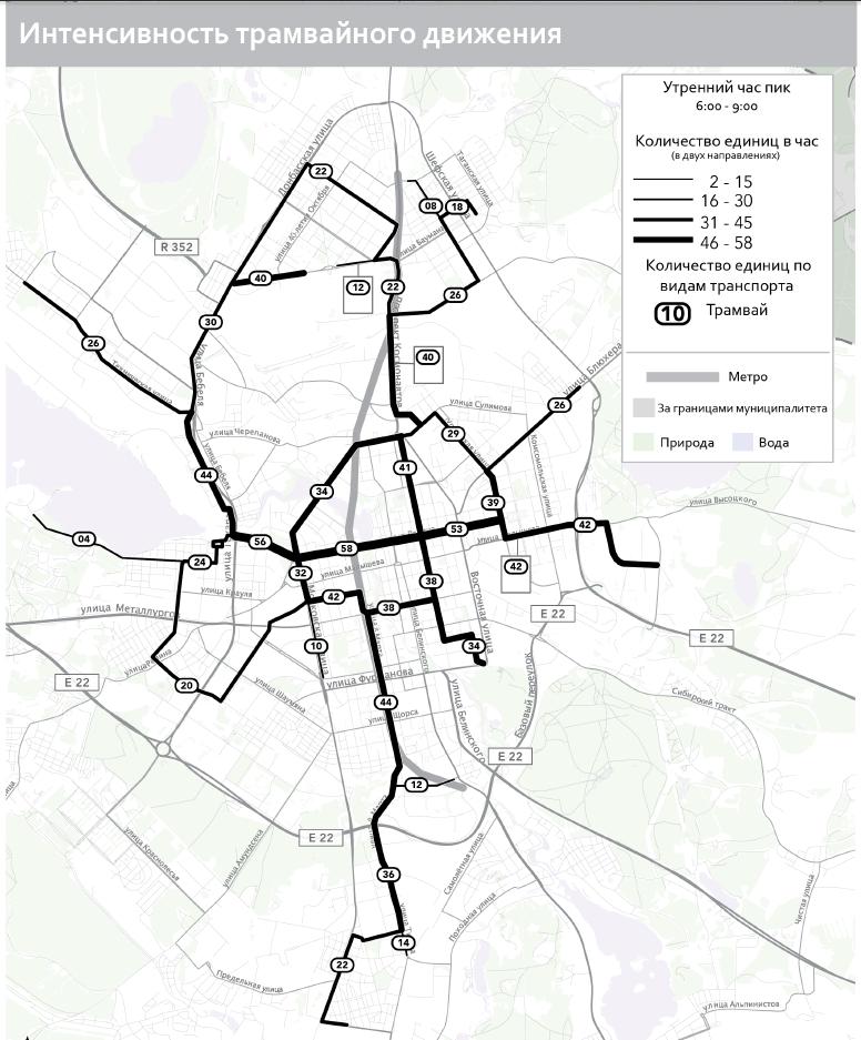 Изменения в схеме движения транспорта в екатеринбурге