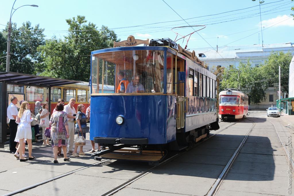 ретро-трамвай, Киев, Подол