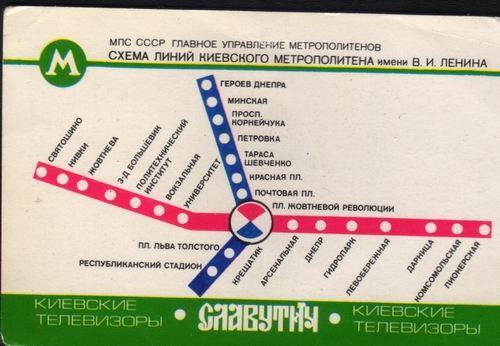 Киевское метро реклама