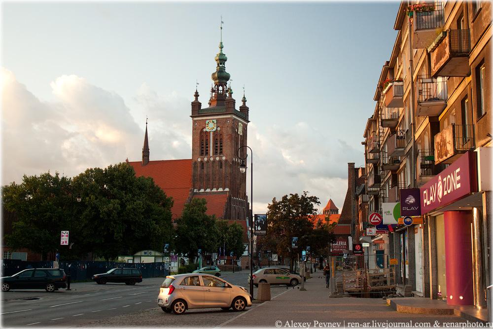 Гданьск, раннее раннее утро... Польша.