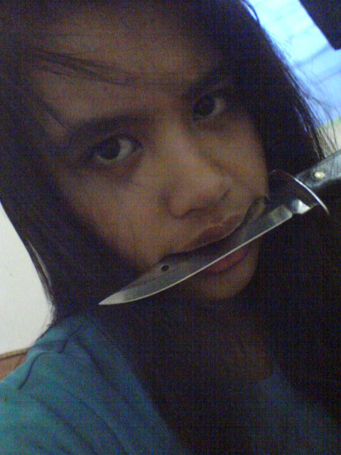Just a knife and I