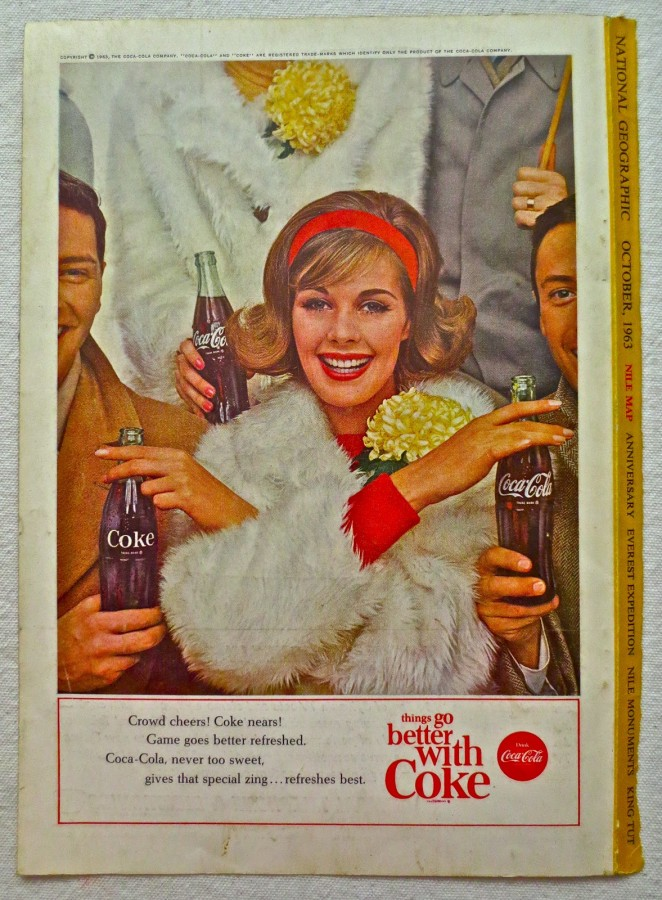 1963 - 1960s Vintage Coca Cola Advertisement From National Geographic Back Page 4