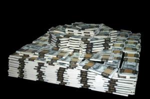 доллары пачки