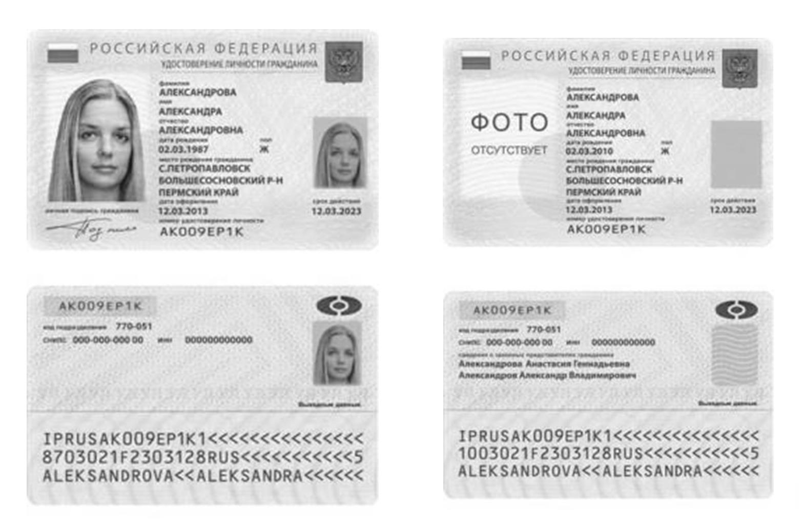 фотографии на паспорт формат