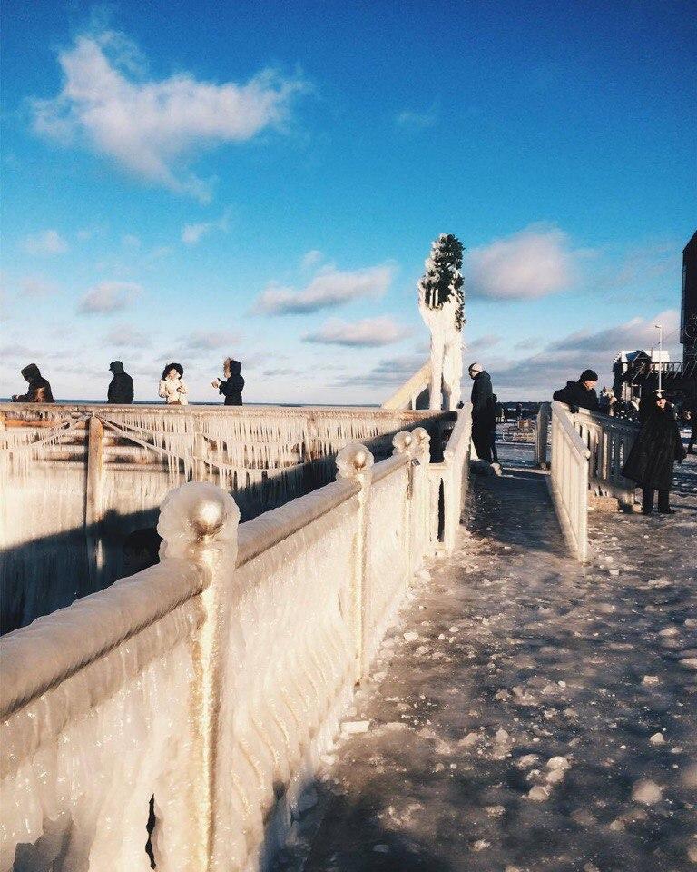 Зима на Балтийском побережье.