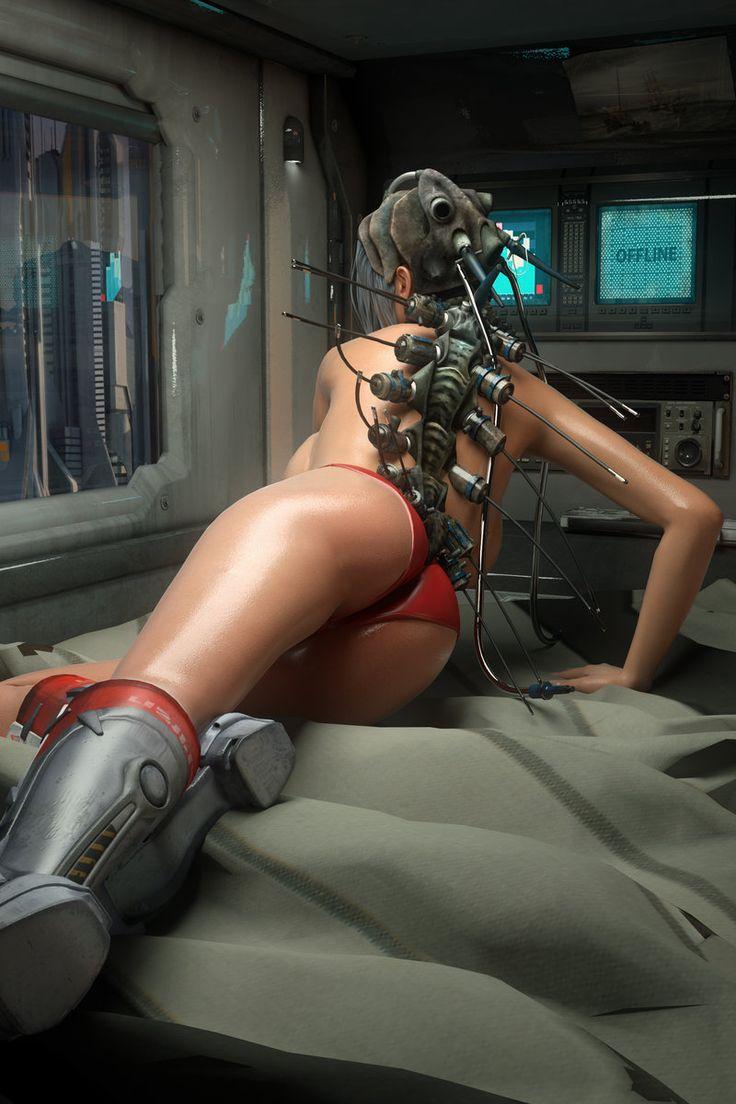 Порно картинки девушек киборгов