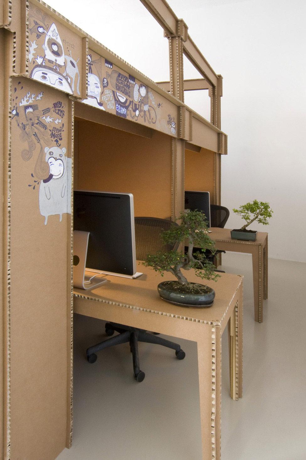 картонный офис 3