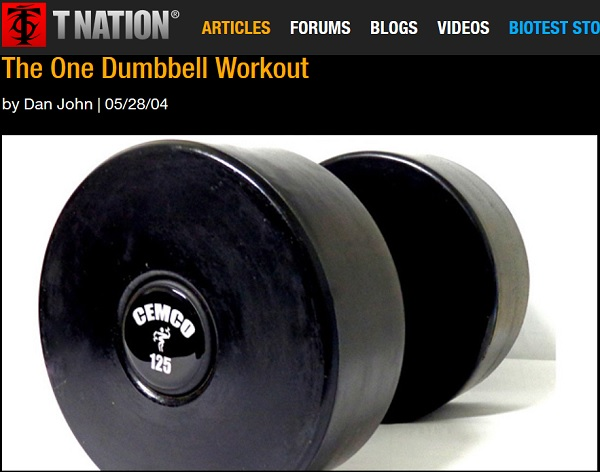 one dumbbell