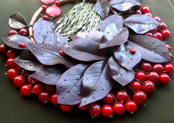 Изделия - комплекты с вишнями, клубникой и опять маки. 20130703_163713