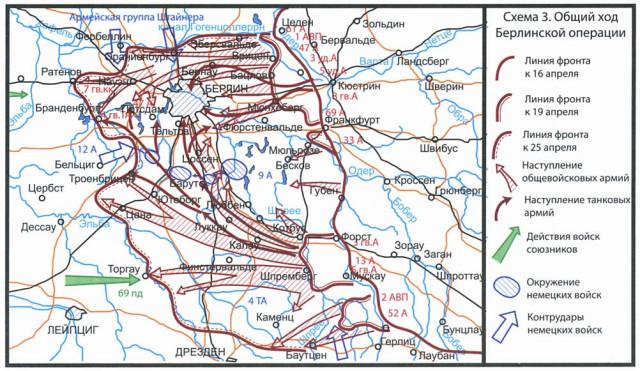Общий ход Берлинской операции