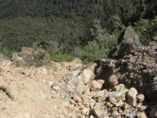 Big rocks down the landslide