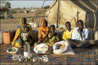 Hungry Planet:  What The World Eats.  A family in Chad