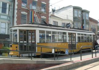 Antique Italian streetcar
