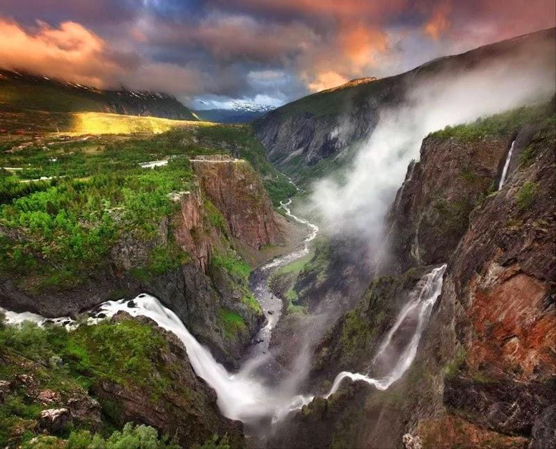 Красивейший водопад Норвегии Ворингфоссен