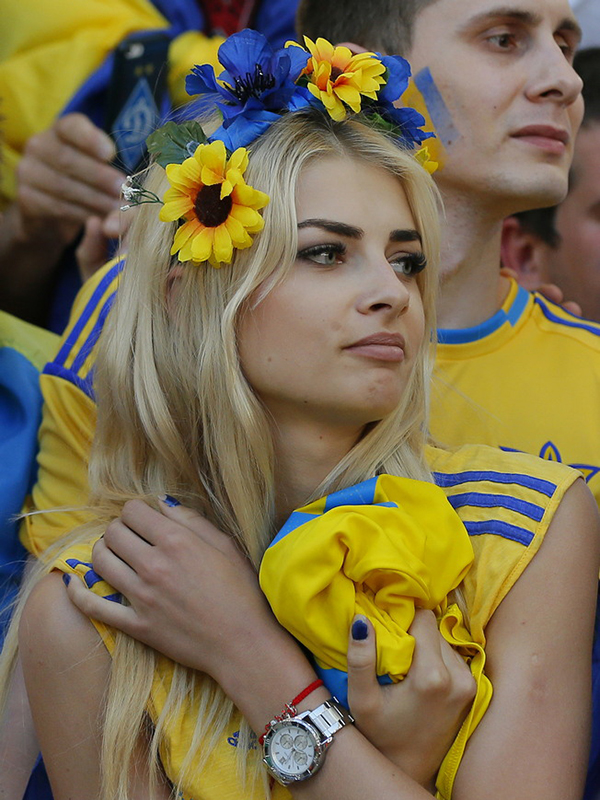 Украинская болельщица Влада Щеглова