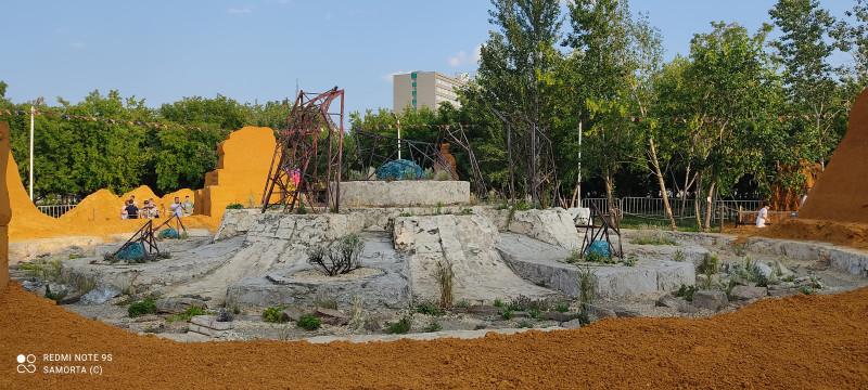 Останки фонтана в бывшем Саду камней